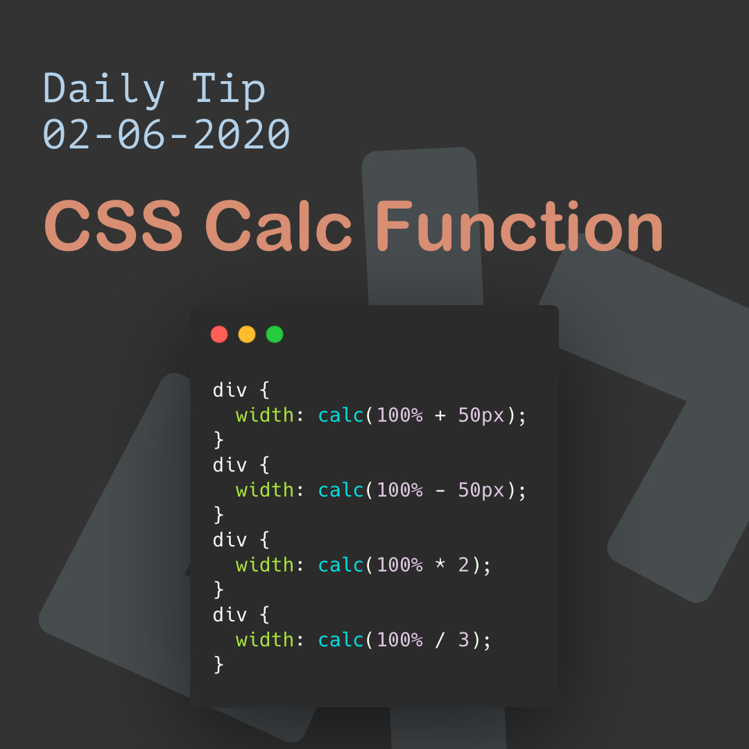CSS Calc Function