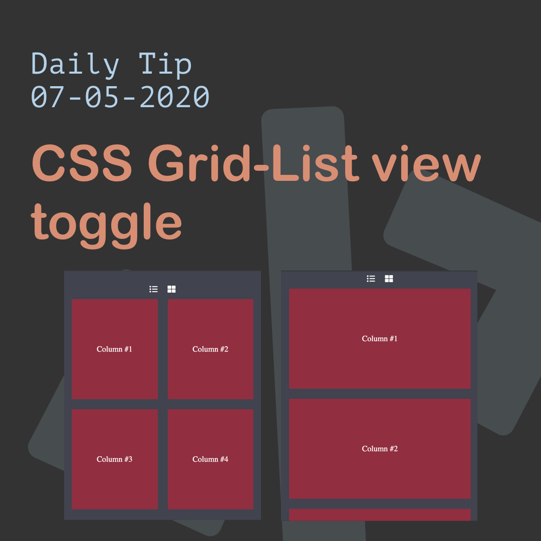 CSS Grid-List view toggle