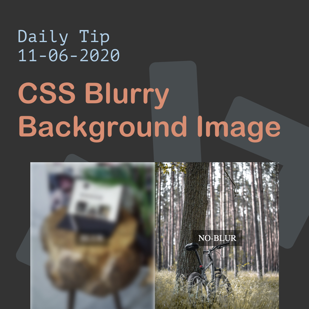 CSS Blurry Background Image