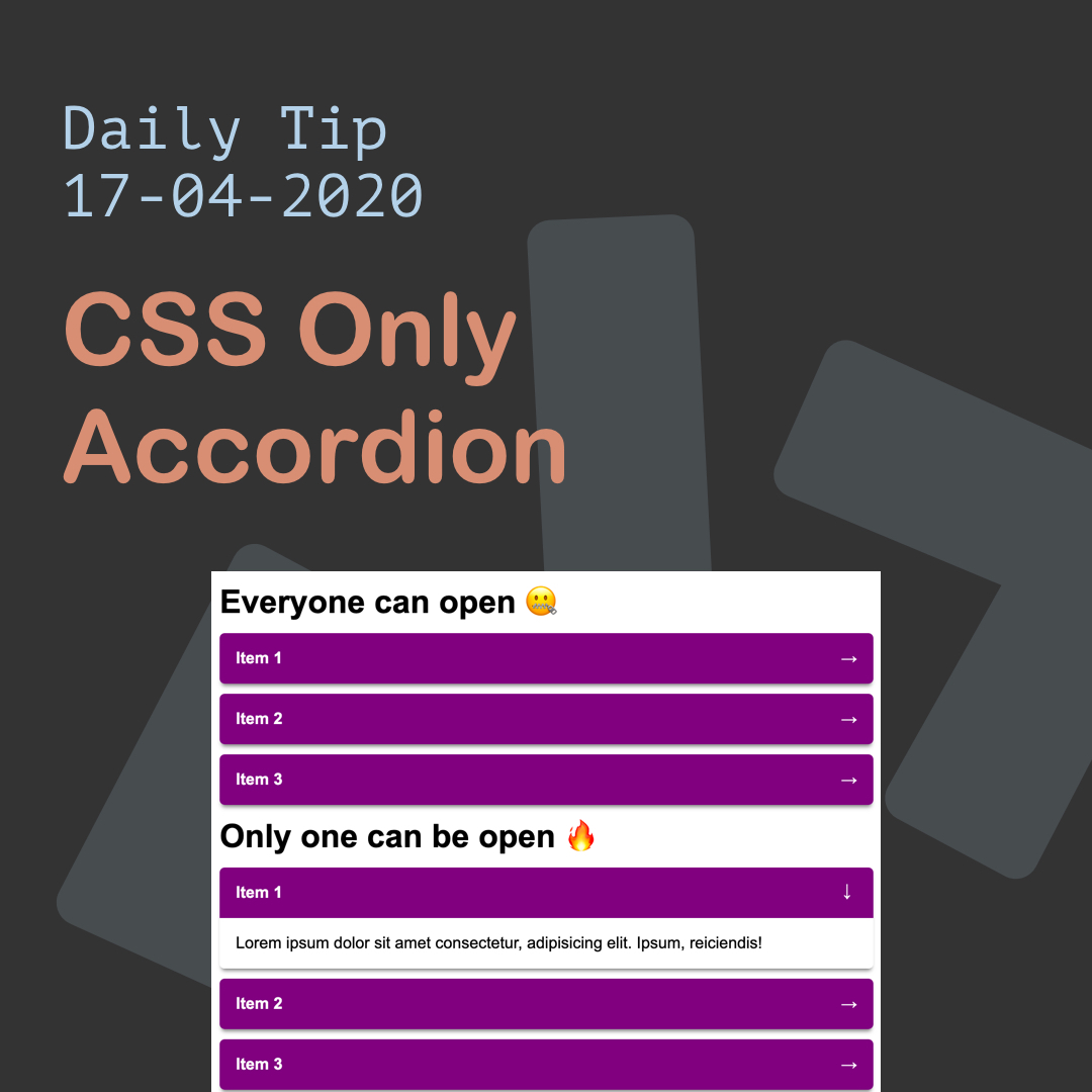 CSS Only Accordion